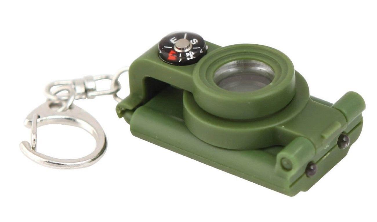 Telescope Compass Key Ring