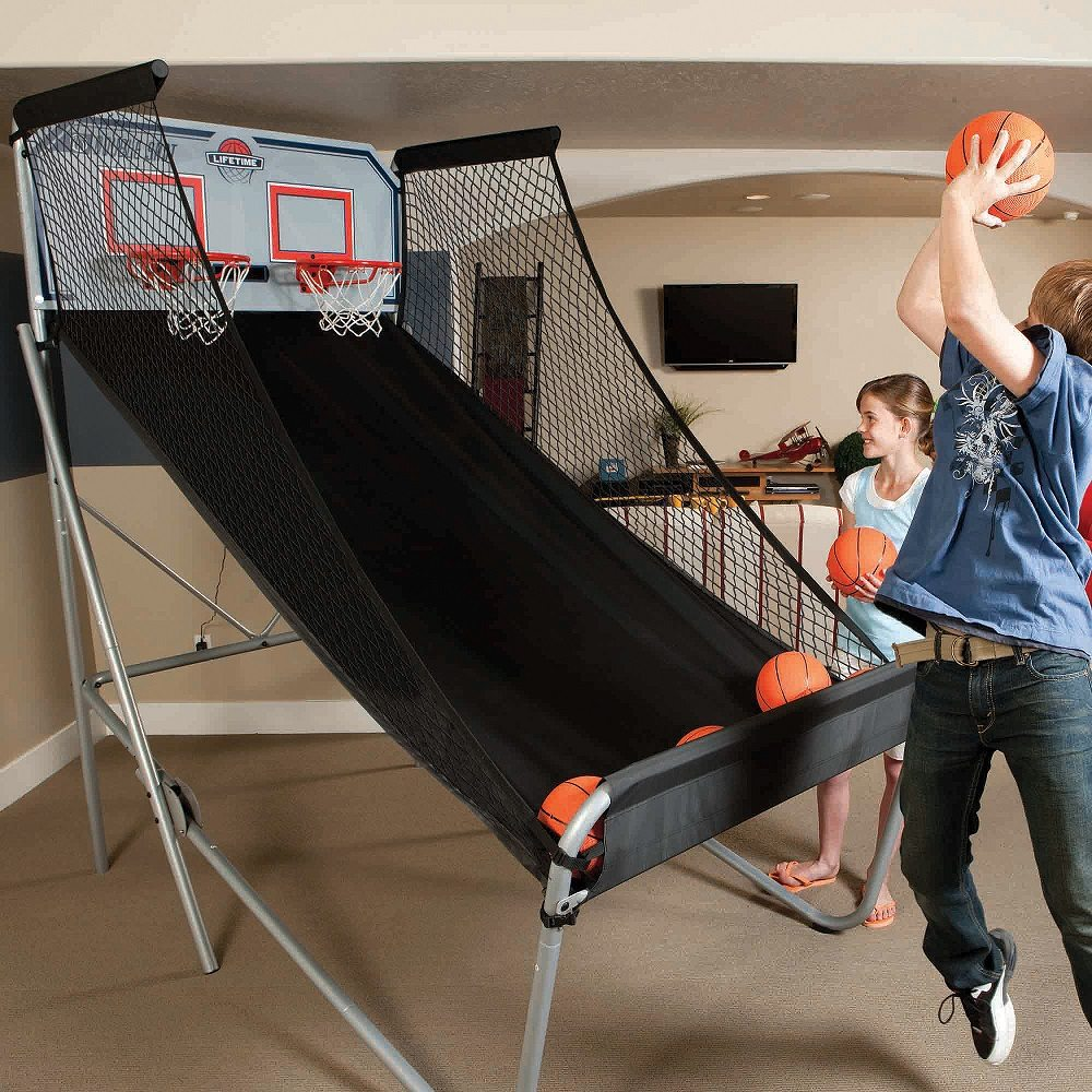 Double-Shot Arcade Basketball System