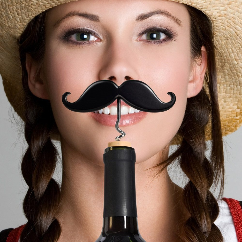 Handle Bar Moustache Wine & Beer Opener