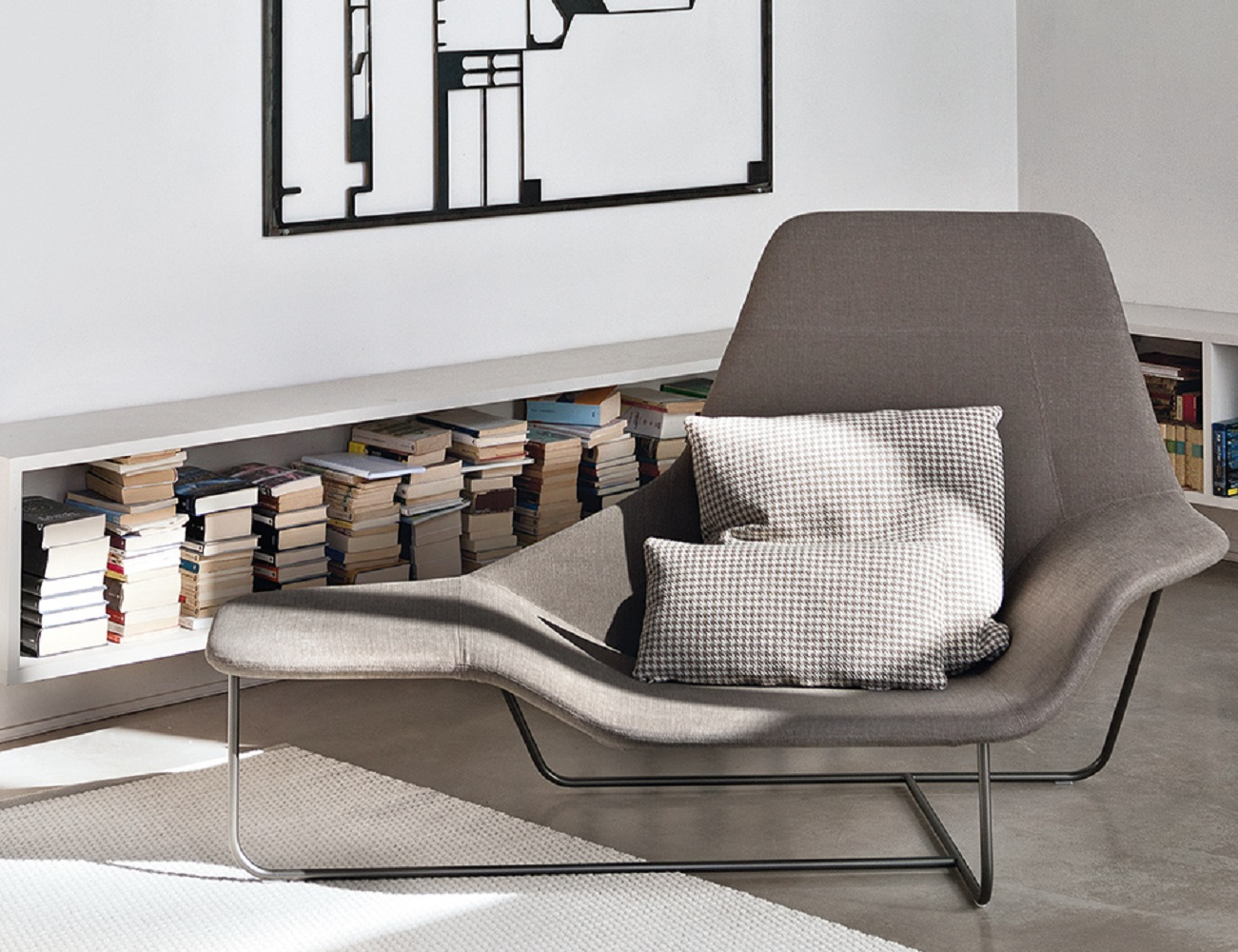 lama lounge chair by zanotta gadget flow. Black Bedroom Furniture Sets. Home Design Ideas