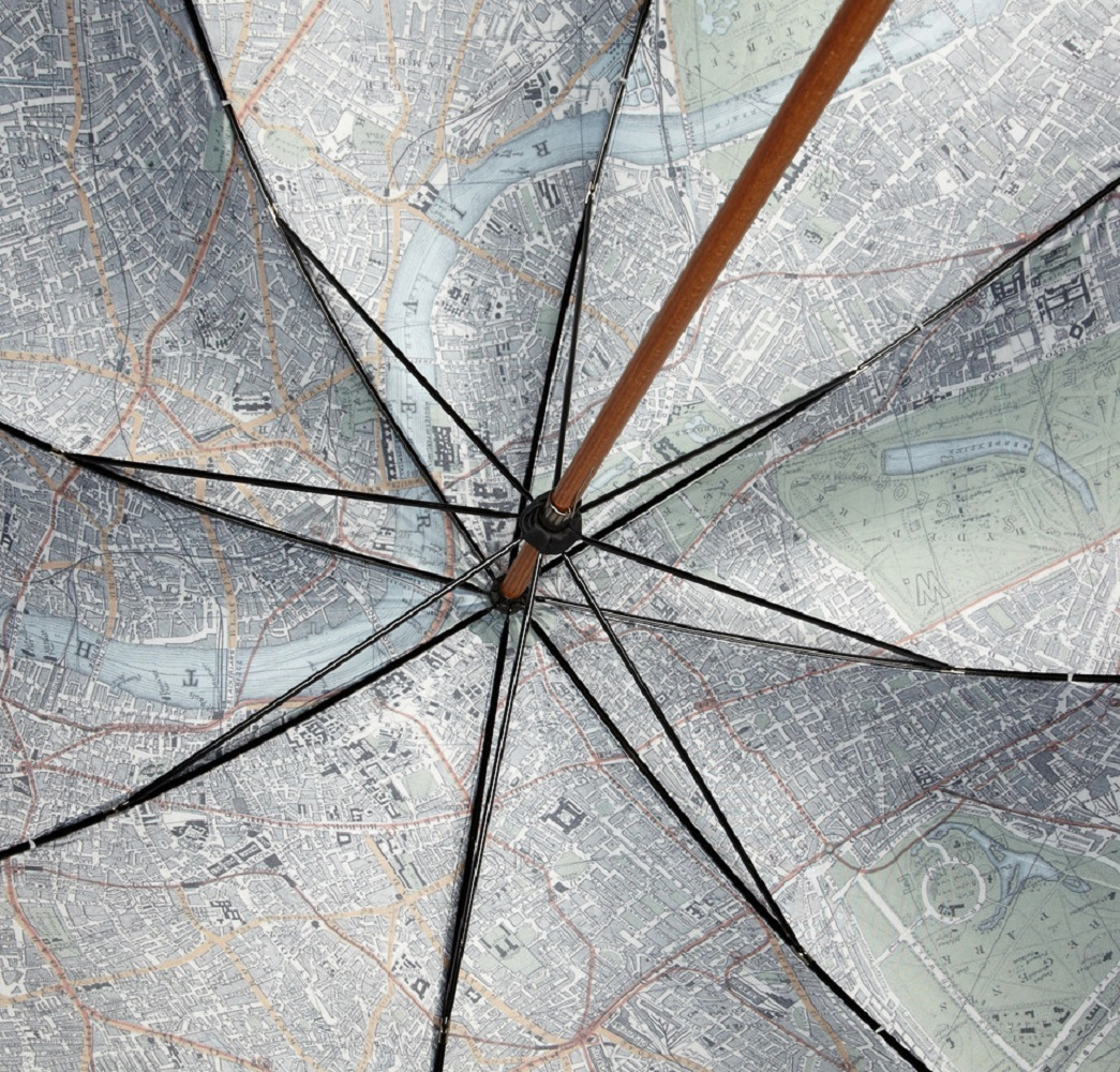 Map-Lined+Umbrella+By+London+Undercover