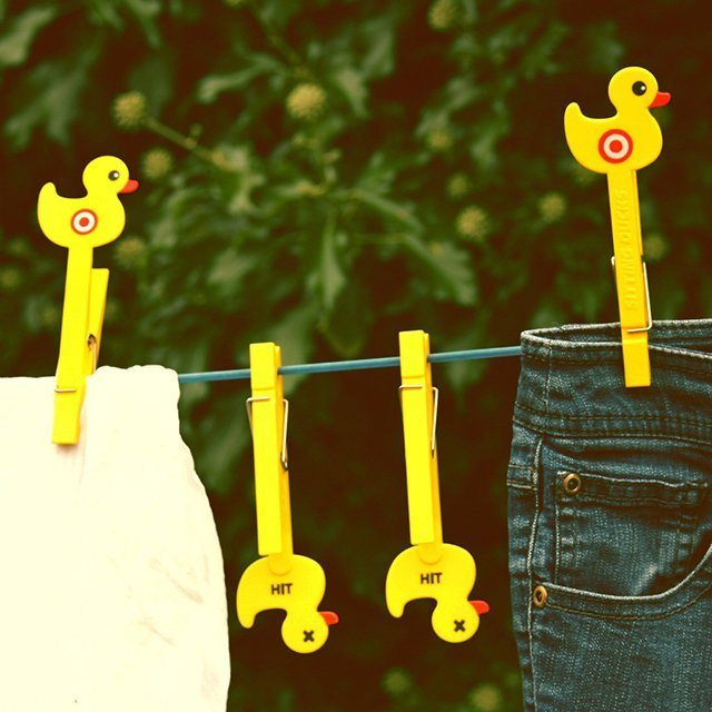Sitting Duck Shaped Clothes Pegs