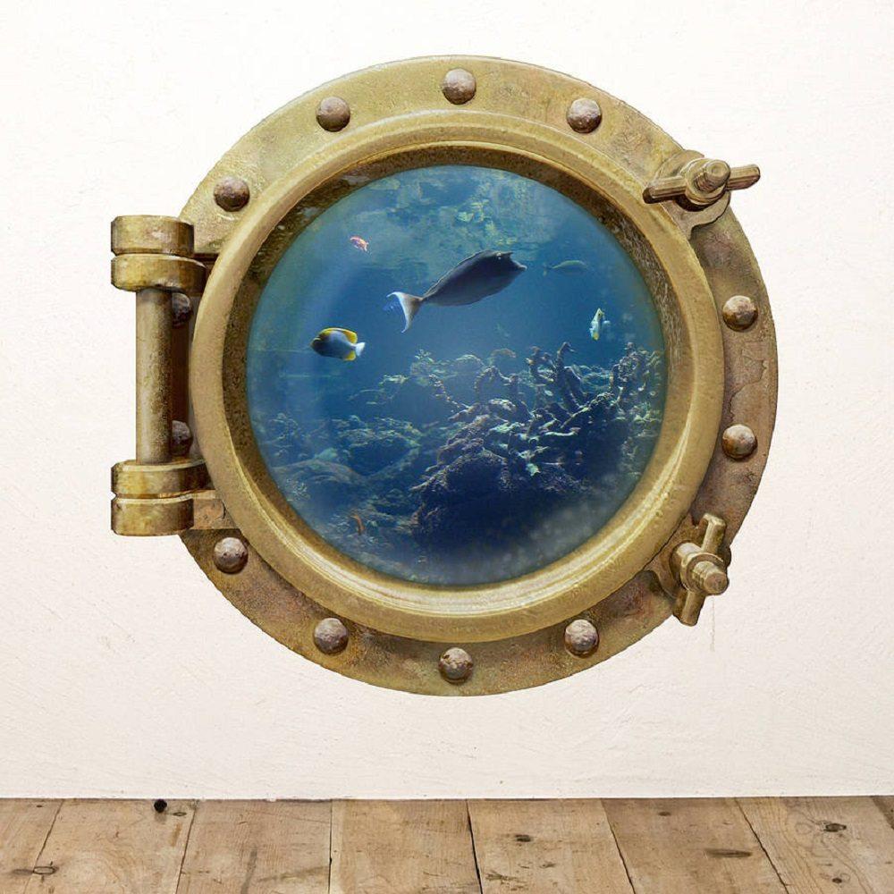 Underwater Porthole Wall Sticker