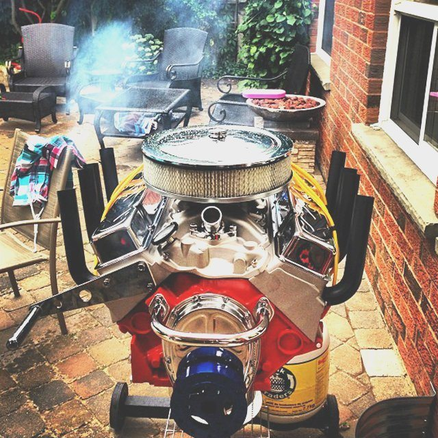 V8 Engine Tattoo Designs V8 Engine Bbq Grill by...