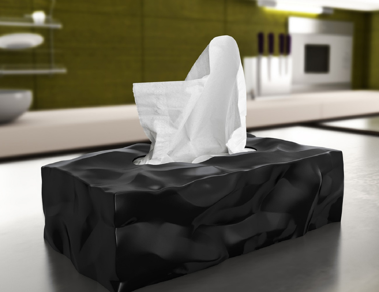 Wipy II Tissue Box by Essey