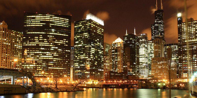 Chicago's futuristic lamp posts