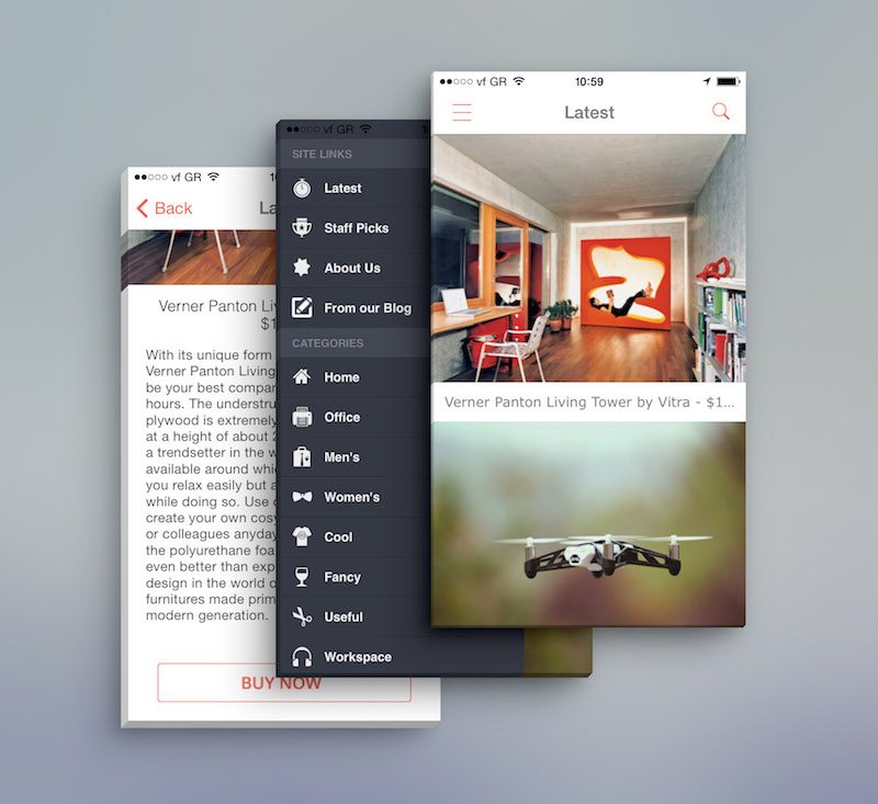 App Screen Front View MockUp copy