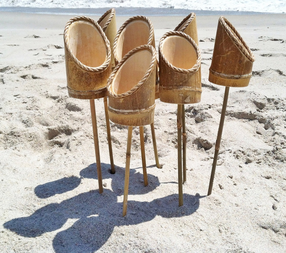 Bamboo Drink Stakes by Surf Life Designs loading=