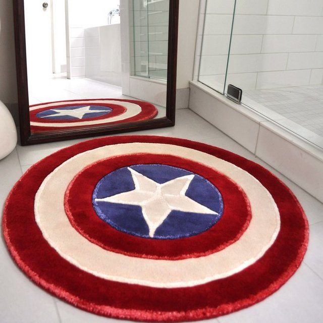 Superb Captain America Rug