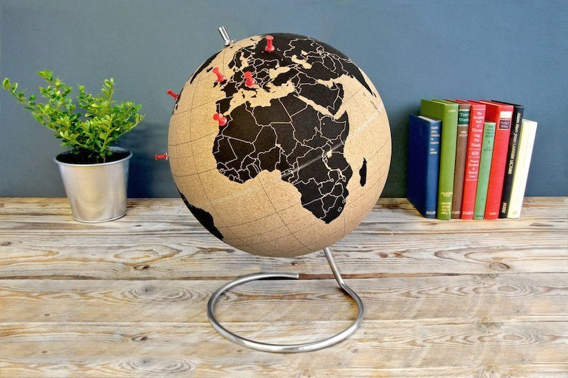Suck UK Cork Globe Map of The World