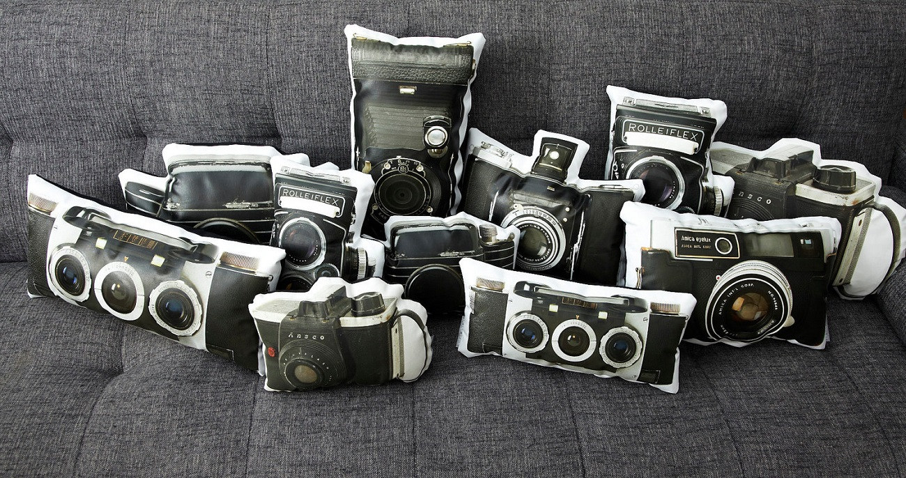 Vintage Camera Pillows by In The Seam