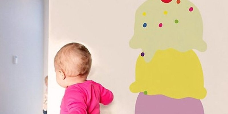 Ice Cream Cone Wall Decal for Ice-Cream Day 2014