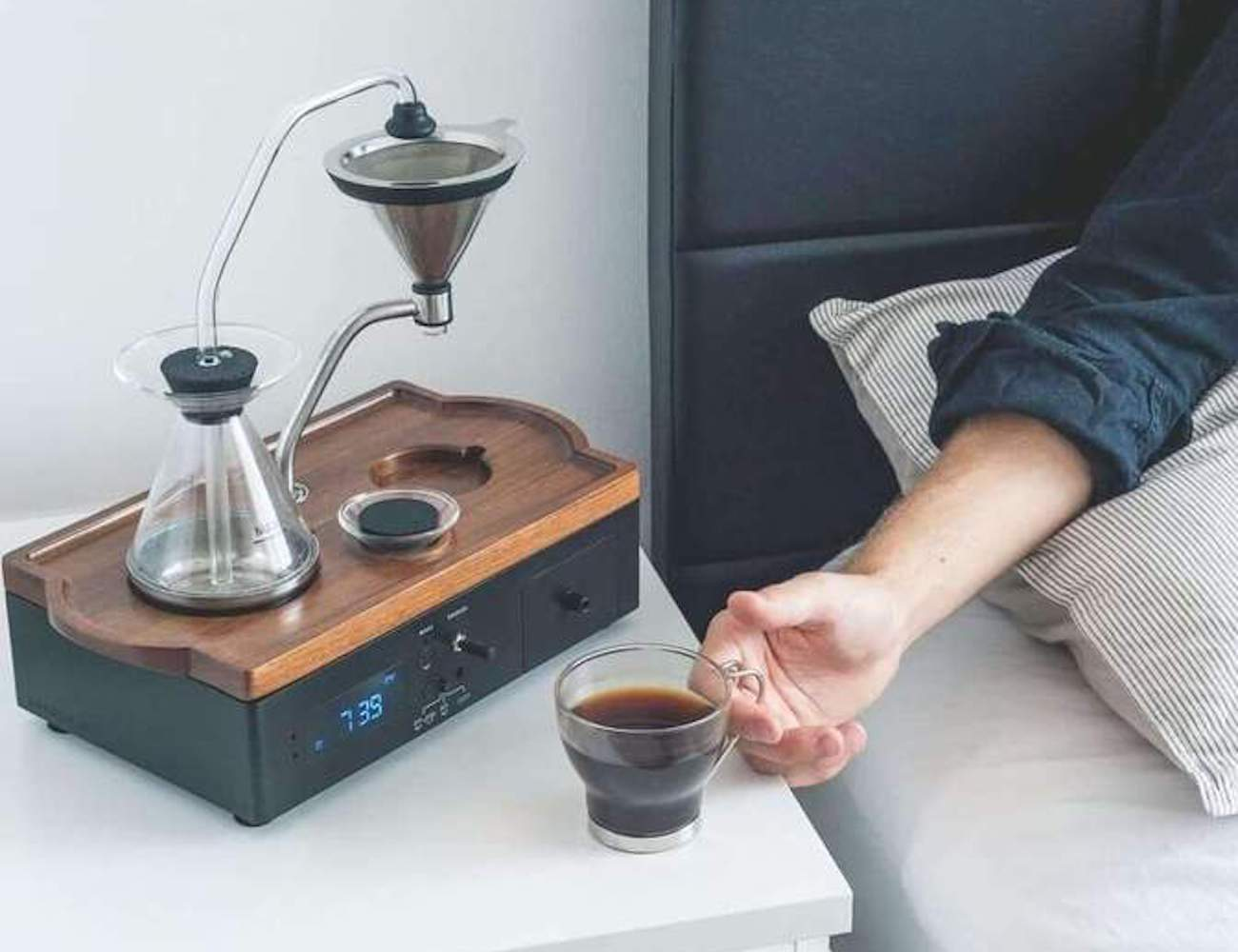 Barisieur Coffee Brewing Alarm Clock