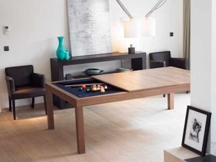 Triangle Dining Table With Benches