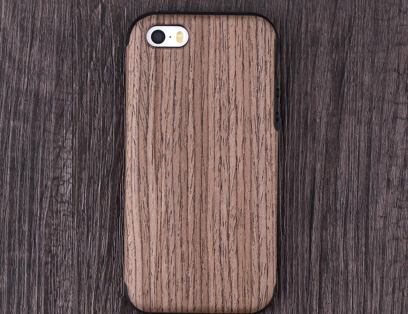 Rosewood Wood iPhone SE/5s Case by Recover loading=