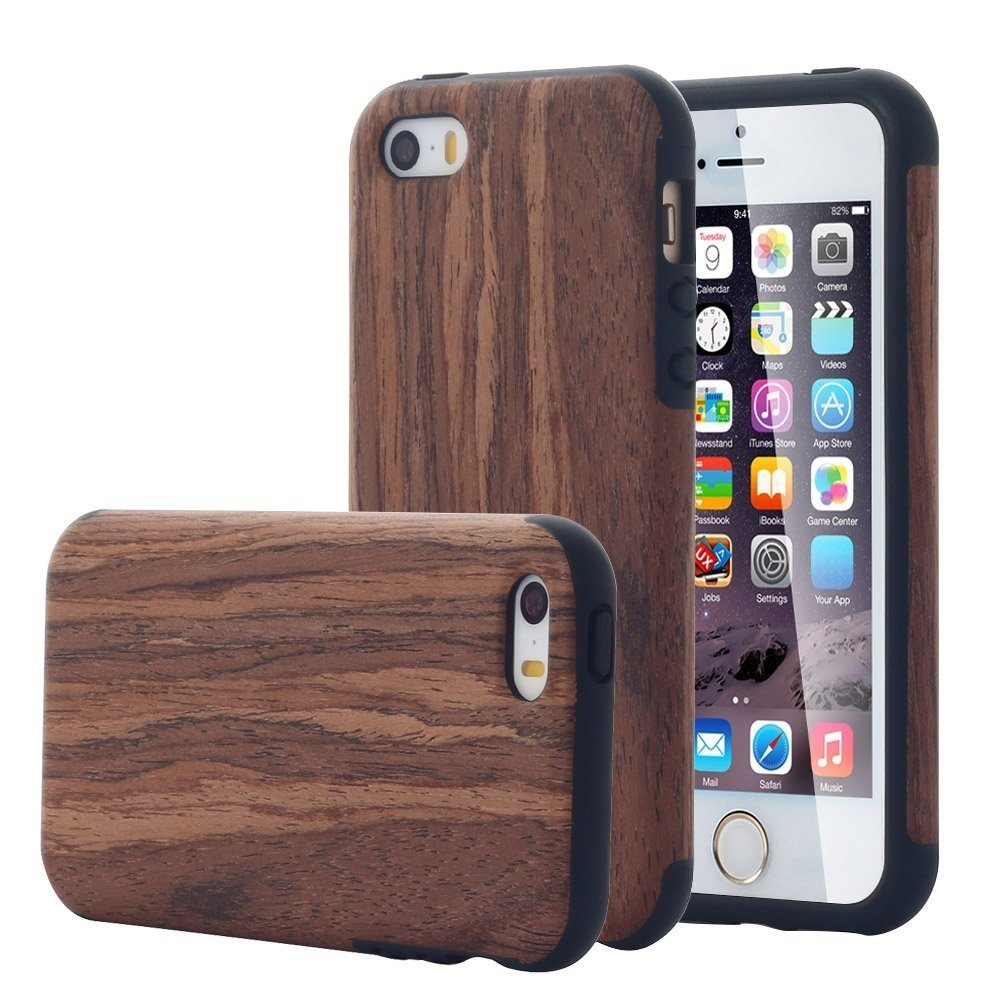 rosewood wood iphone se  5s case by recover  u00bb gadget flow
