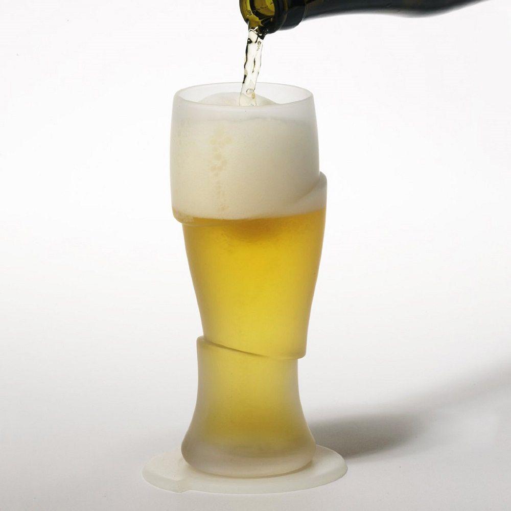 Sliced Cold Beer Glasses