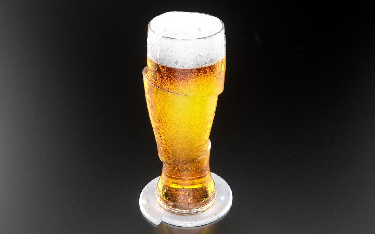 Sliced+Cold+Beer+Glasses