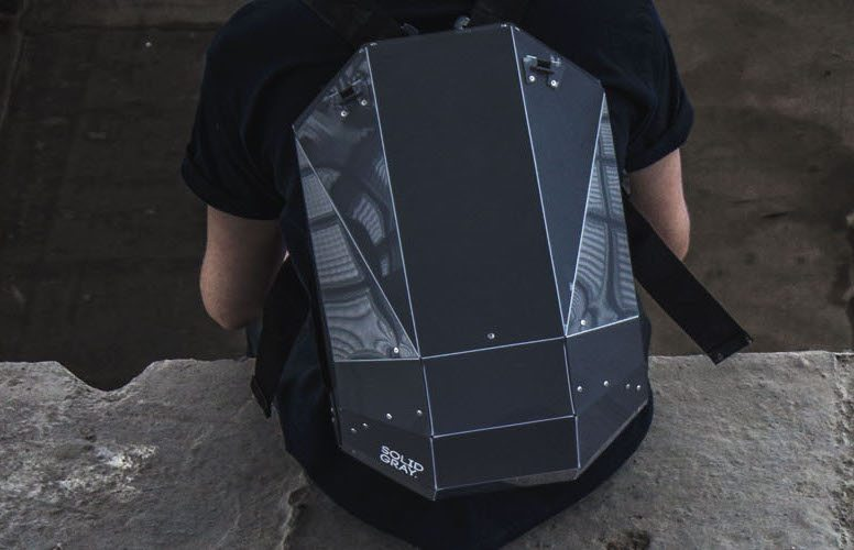 White – Black Backpack by Solid Gray