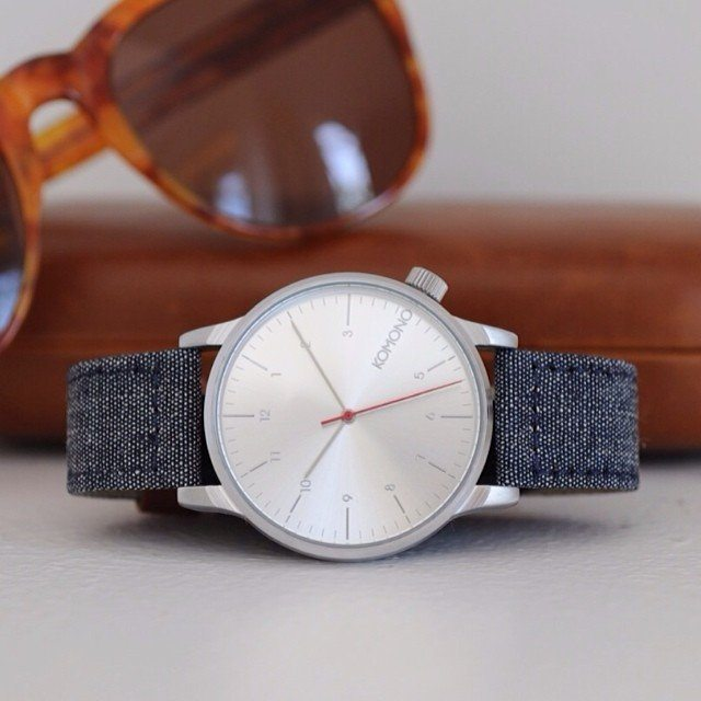 Winston+Heritage+Chambray+Watch+By+Komono