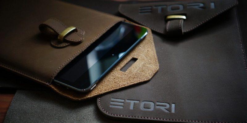 Back to School ETORI Leather sleeve for you iPad Air or iPad Mini