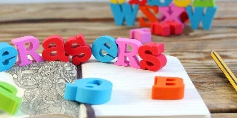 Back to School Alphabet Erasers Set