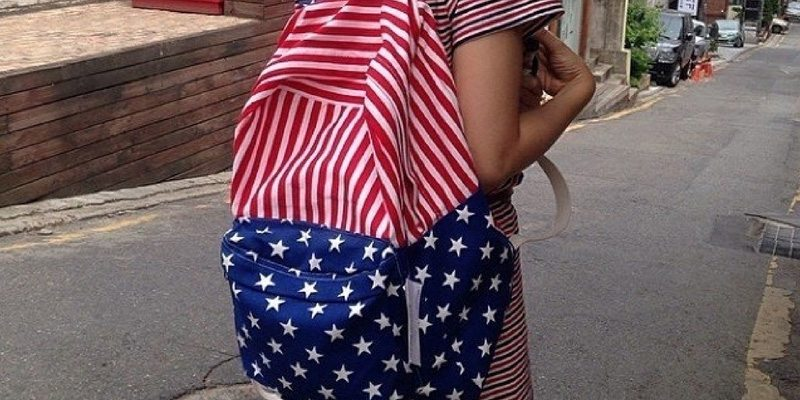Back to school American Flag Backpack by American Apparel