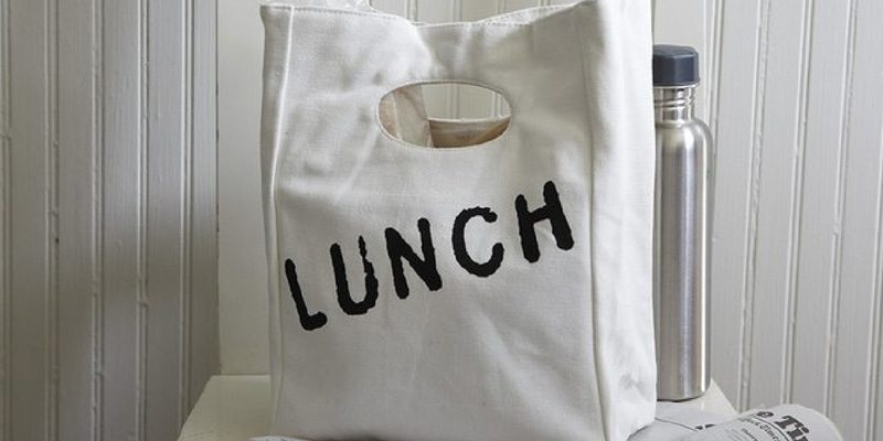 Back to School Organic Cotton Lunch Bag