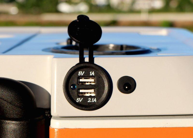 USB port for charging gadgets