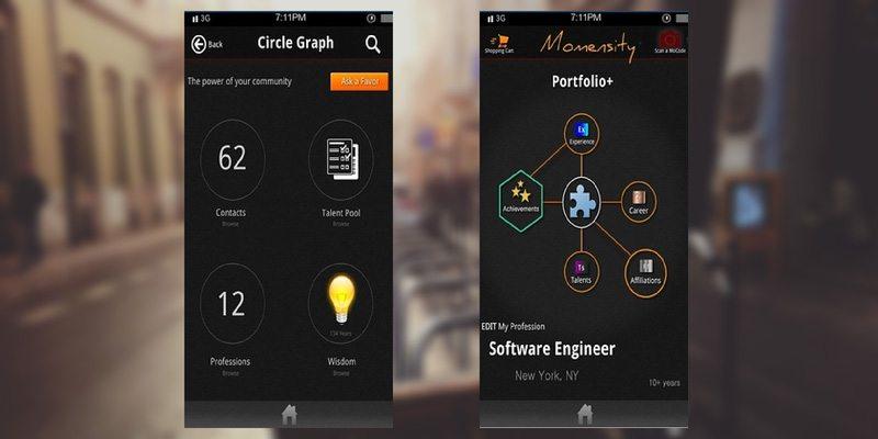 Momensity app screenshots