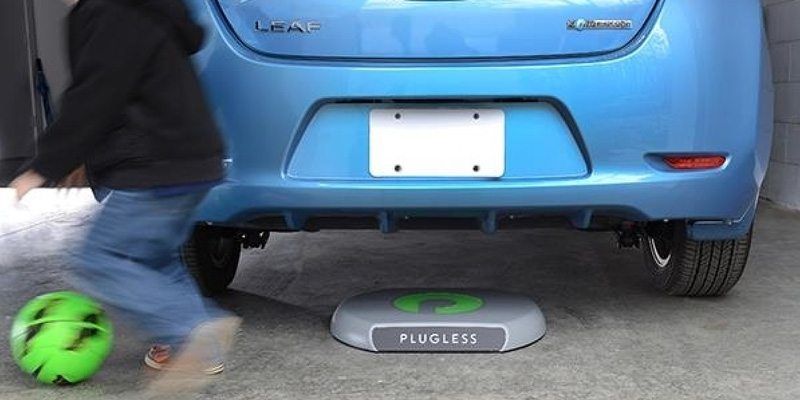 Wireless charging for electric cars
