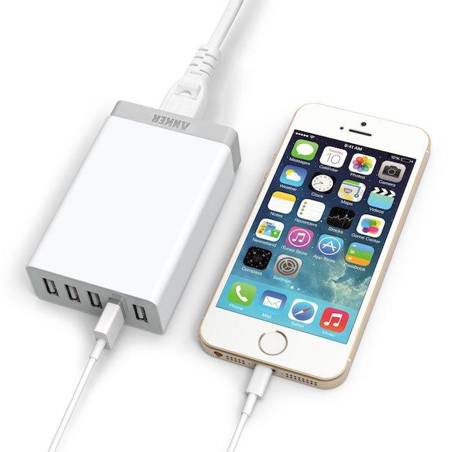 5-Port Family-Sized Desktop USB Charger