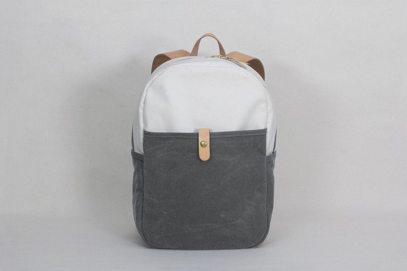 Day Pack – Natural / Grey Waxed Canvas