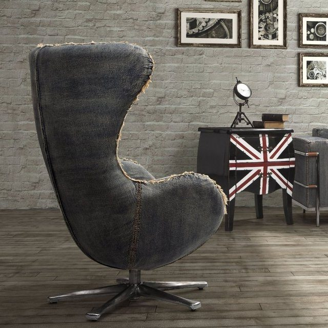 denim egg chair by arne jacobsen gadget flow. Black Bedroom Furniture Sets. Home Design Ideas