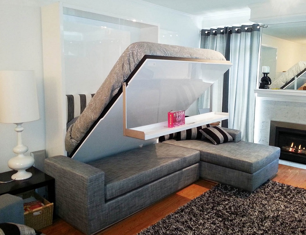 Float+MurphySofa+Sectional+Wall+Bed