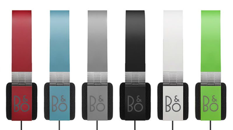 An image displaying the color selection of  B&O's Form 2i Headphones