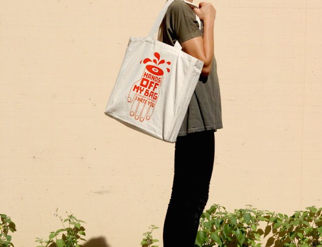 Large tote: Hands off my bag!