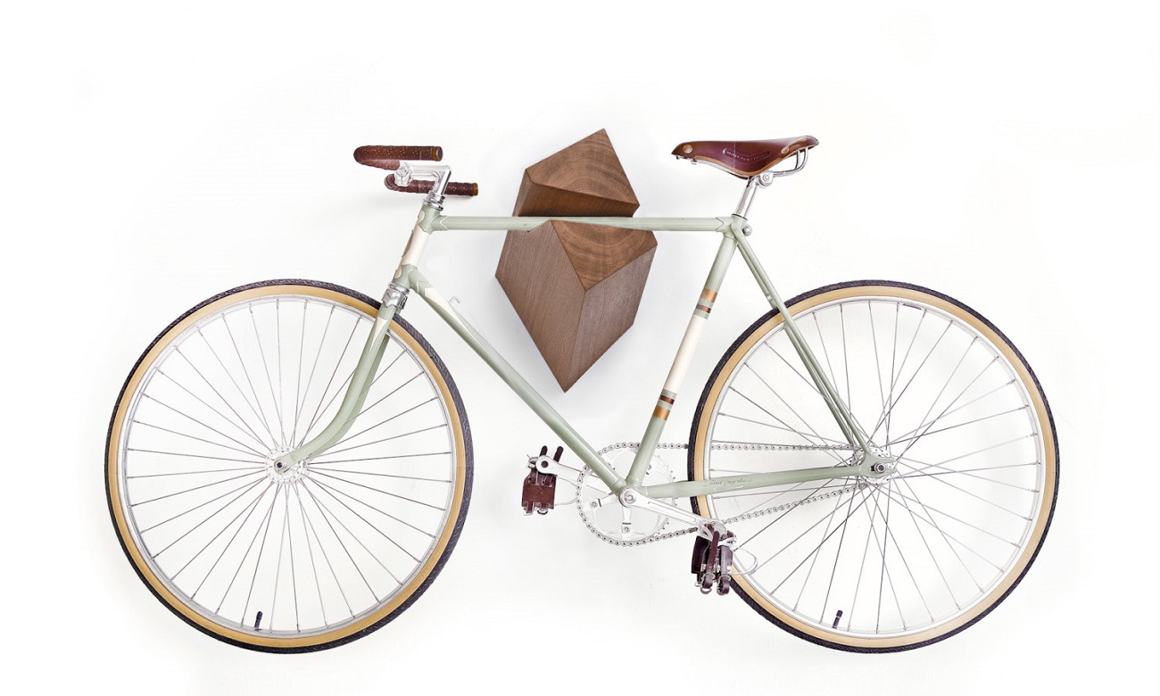 Oak Wood Bike Hanger by Woodstick