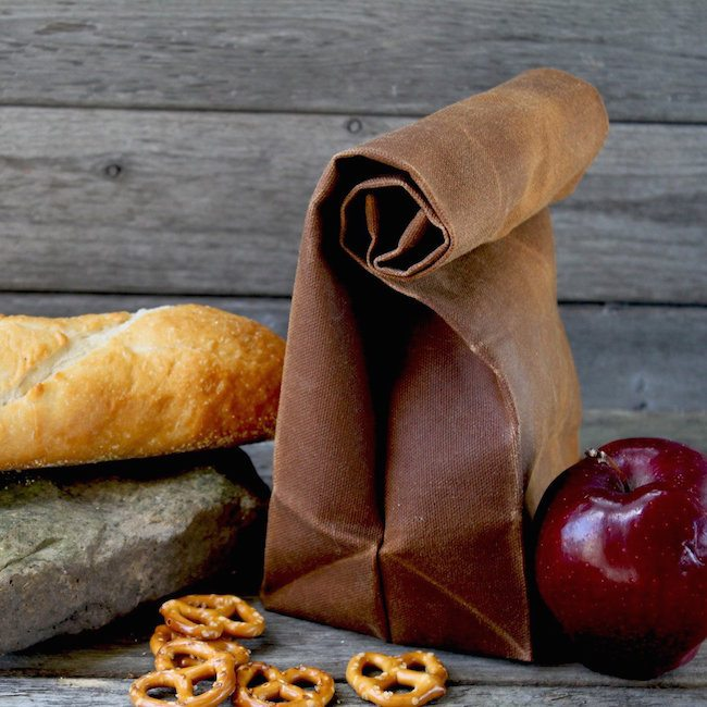 The Brown Bag Waxed Canvas Lunch Bags