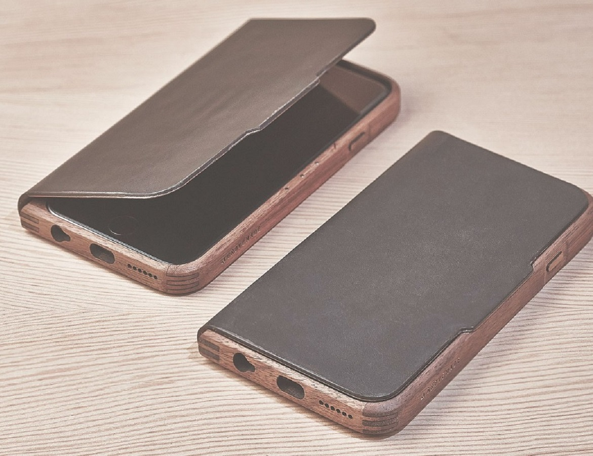 Walnut and Leather iPhone 6/6s Case