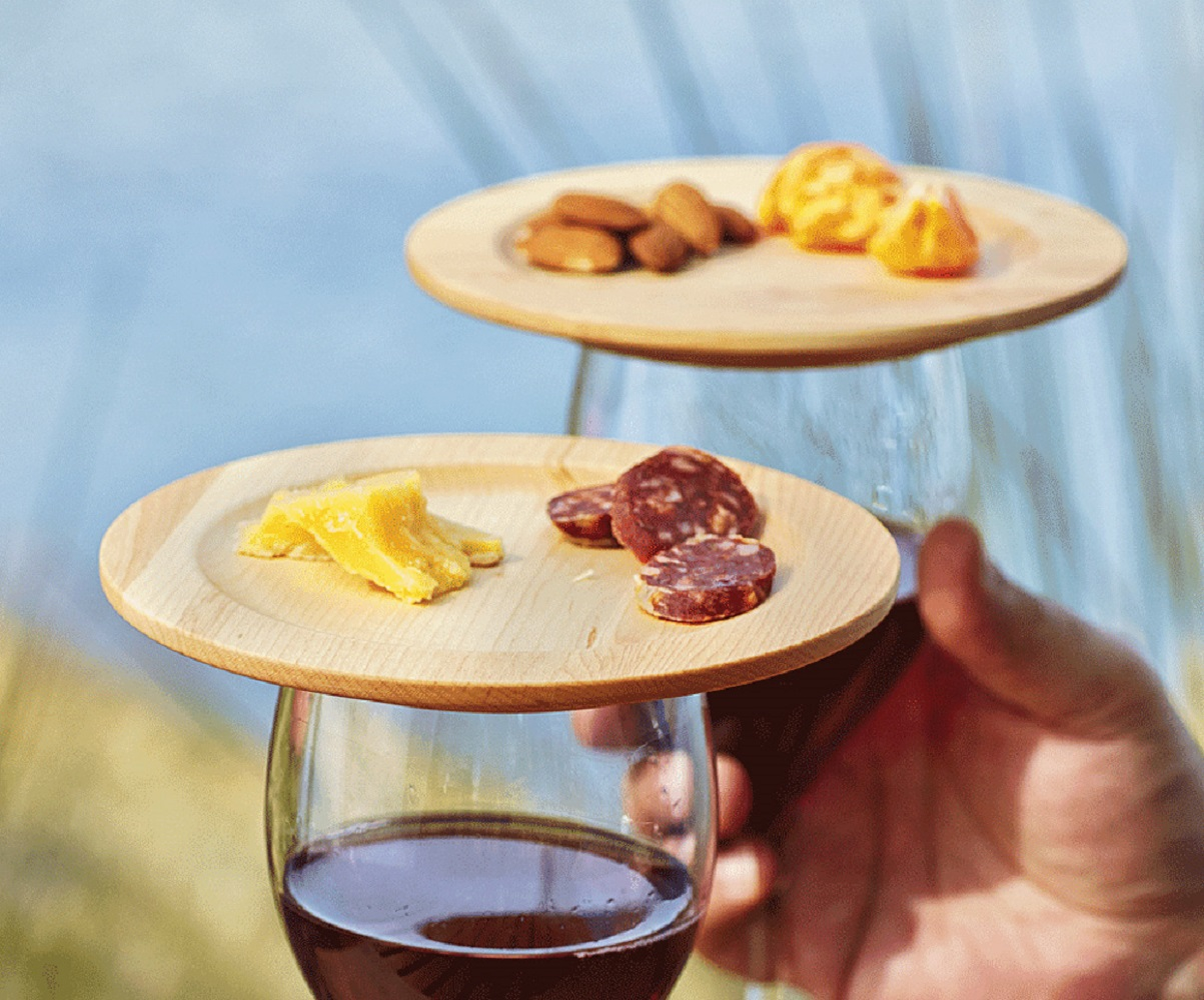 Wine Glass Appetizer Plates