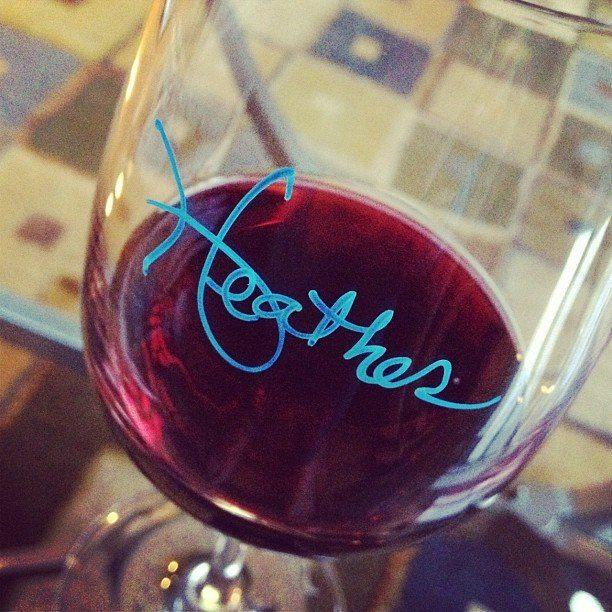 Wine Glass Writer Metallic Pens