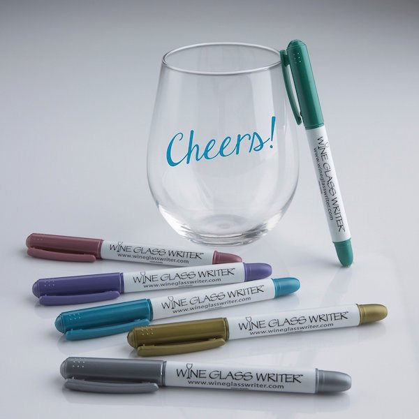 Wine Glass Writer Metallic Pens