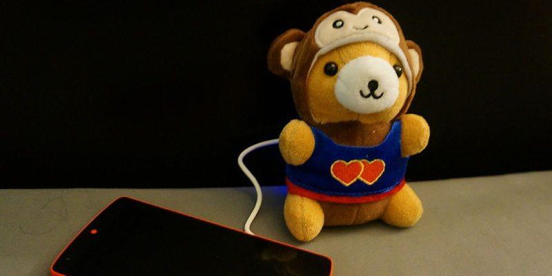 Teddy bear phone charger