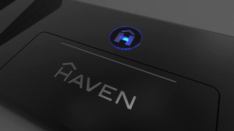 The Haven floor attachment with LED lights