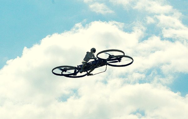 Hoverbike is the Twenty-First Century Amalgamation of a Motorbike and Helicopter in the Impressive World of Drones