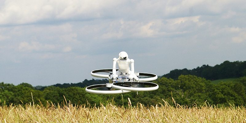 Hoverbike combines helicopter and motorbike