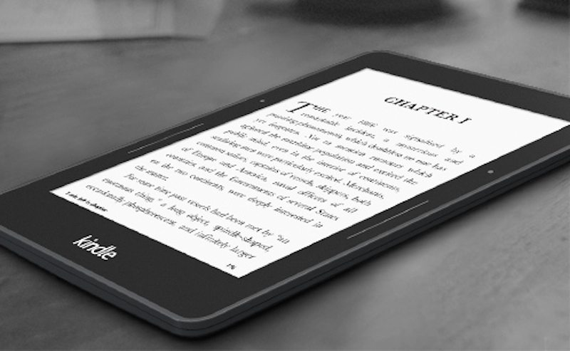 The Kindle Voyage is very, very thin.