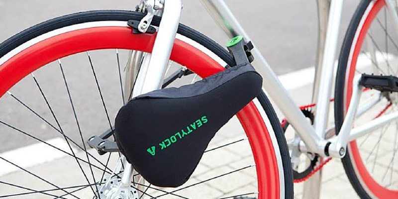 Seatylock bike lock cum bike saddle