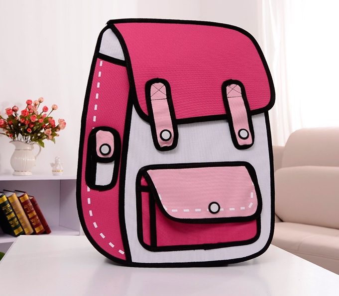 3D Cartoon Flat Backpack